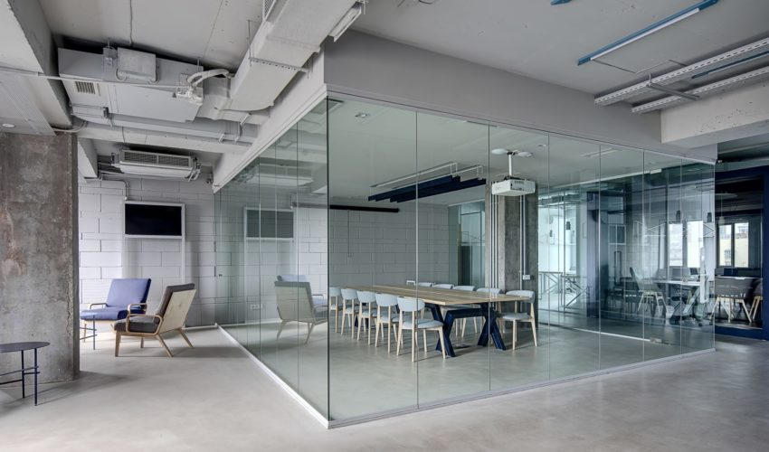 office glass partitions.
