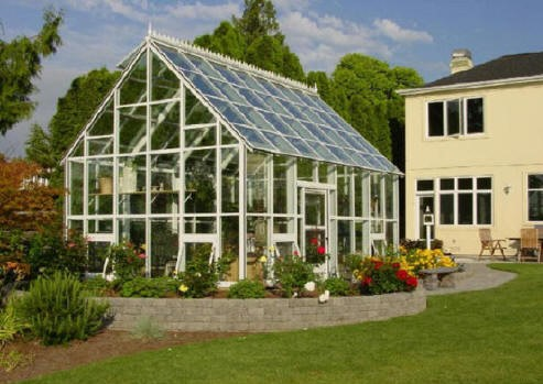 glass greenhouse